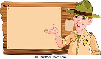 drewniany, obieżyświat, spoinowanie, znak