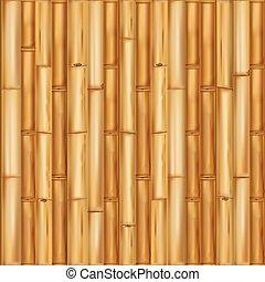 drewniany, tło., bambus, seamless, próbka