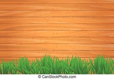 drewniany, wektor, tło