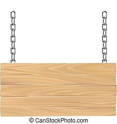 drewniany, więzy, ilustracja, znak