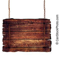 drewniany, znak