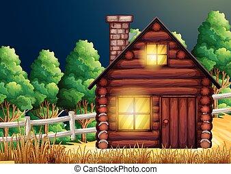 drewno, drewna, kabina