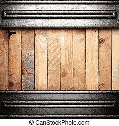 drewno, metal, tło