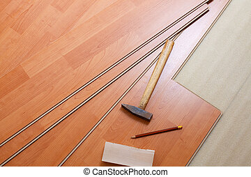 drewno, narzędzia, podłoga