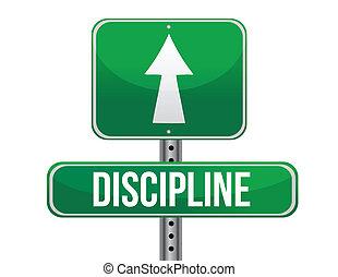droga znaczą, ilustracja, dyscyplina