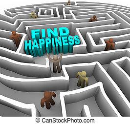 droga, znaleźć, szczęście, twój