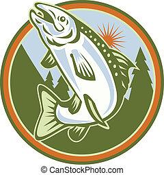 dropiaty, fish, skokowy, pstrzony, pstrąg
