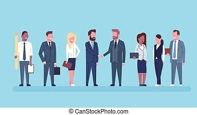 drużyna, wzmacniacz, pojęcie, transakcja, handlowy, pomyślny, siła robocza, mężczyźni, porozumienie, businesspeople, dwa, wręczać potrząsanie, szef, potrząsanie, albo