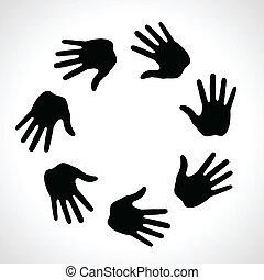 druk, ręka, czarnoskóry, ikona