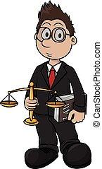 druk, rysunek, ilustracja, prawnik