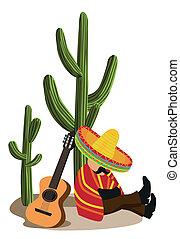 drzemiąc, meksykanin