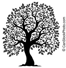 drzewo 3, sylwetka, mający kształt