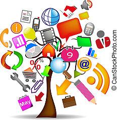 drzewo, handlowe ikony