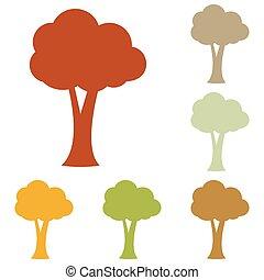 drzewo, ilustracja, znak