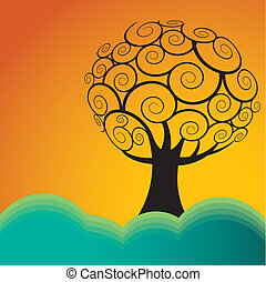 drzewo krajobraz