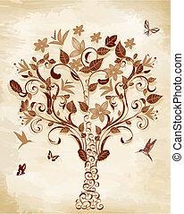 drzewo, papirus