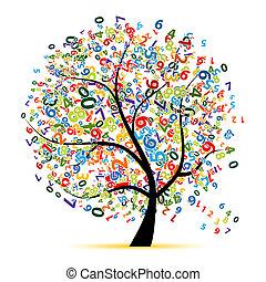 drzewo, projektować, twój, cyfrowy