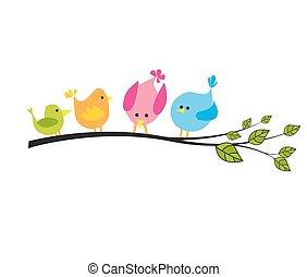 drzewo, ptaszki