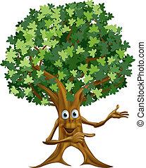 drzewo, spoinowanie, ilustracja, człowiek