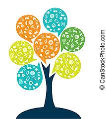 drzewo, technologia, rozrywka