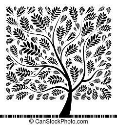 drzewo, twój, rowan, sztuka, projektować, piękny