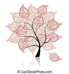 drzewo, twój, sztuka, projektować, piękny