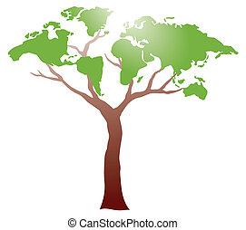 drzewo, worldmap