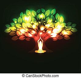 drzewo, yoga