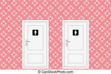 drzwi, toaleta