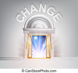 drzwi, zmiana
