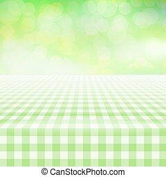 duży parasol, opróżniać, tablecloth, tło, piknik, zielony