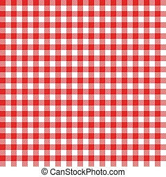 duży parasol, piknik, pattern., seamless, opowiadanie, materiał, tablecloth., vector., czerwony, włoski