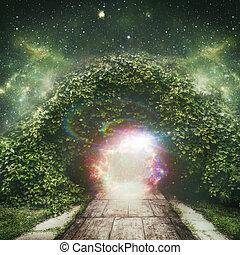 duchowny, wszechświat, abstrakcyjny, tła, portal, inny