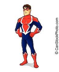 dumny, superhero, przyjacielski