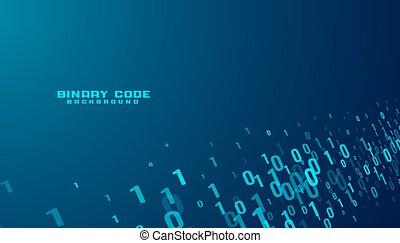 dwójkowe dane, kodeks, takty muzyczne, potok, technologia, tło