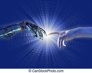 dwójkowy, pękać, inteligencja, -, sztuczny, urodzenie