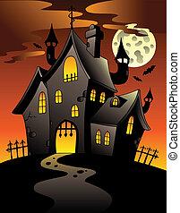 dwór, 1, halloween scena