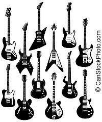 dwanaście, elektryczne gitary