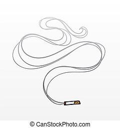 dym, papieros