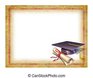 dyplom, skala, czysty