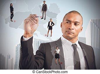 dyrektor, pracownicy, miejsca