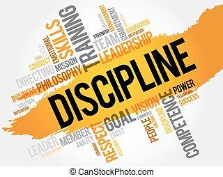 dyscyplina, słowo, chmura