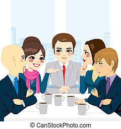 dyskutując handlowy, drużyna