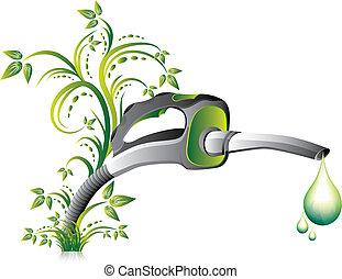 dysza, pompa, zielony, opał
