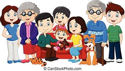 dziadkowie, cielna, rodzina