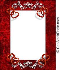 dzień, brzeg, serca, czerwony, list miłosny
