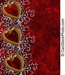 dzień, list miłosny, serca, brzeg