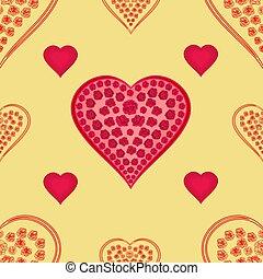 dzień, list miłosny, struktura, serca