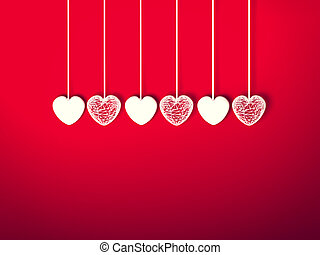 dzień, serce, list miłosny, tło