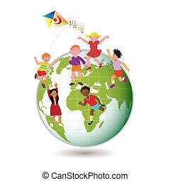 dzieci, świat, dookoła